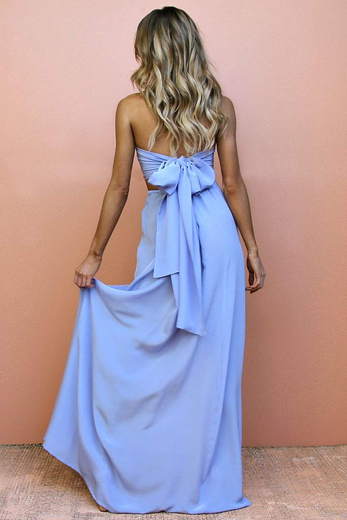 Sisters the Label Vienna Sky Two Piece Wrap Gown