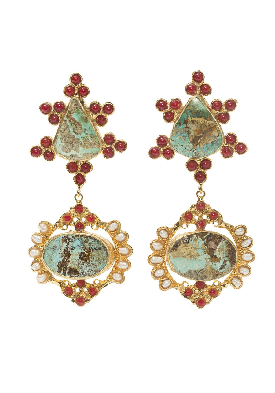 Christie Nicolaides Zoe Earrings Turquoise