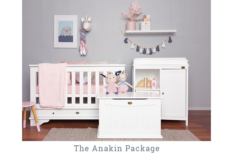 The Anakin Package: Contemporary cot, Change Unit with Mat and Toy Box