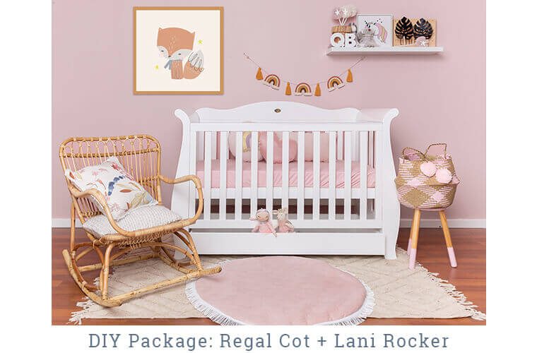 DESIGN YOUR OWN PACKAGE with the Regal Cot and Lani Rocker