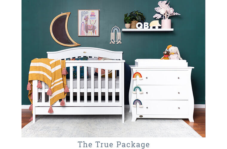 THE TRUE PACKAGE includes the WIndsor Cot and the Regal 3 Drawer Chest