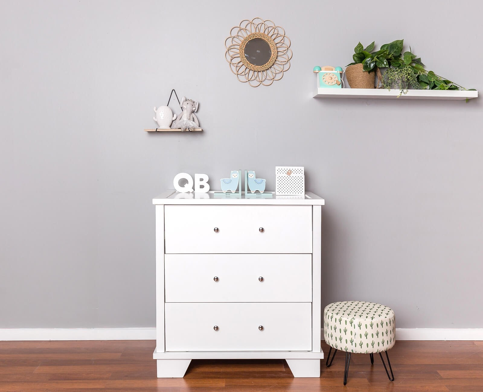 Strathmore 3 Drawer Chest with Silver Handles