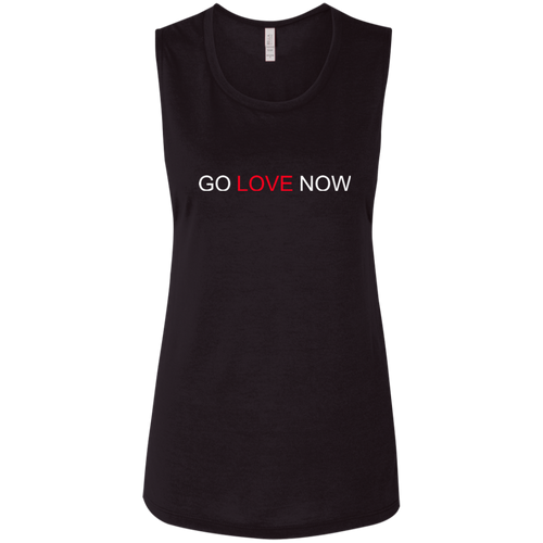 Go Love Now Ladies' Flowy Muscle Tank