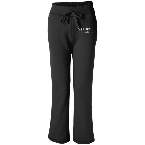 Disrupt With Love Women's Open Bottom Sweatpants with Pockets