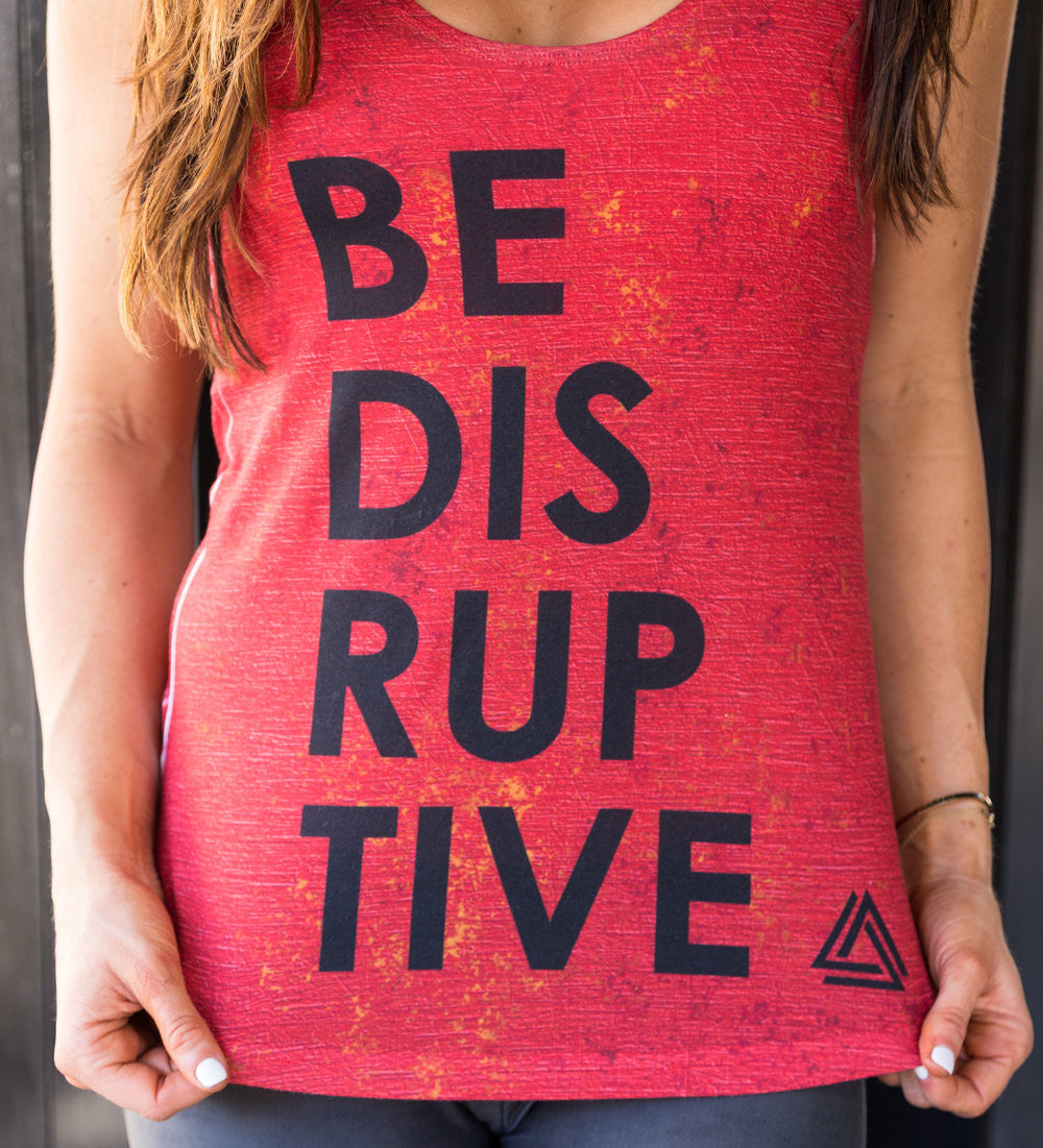 RED ROCKSTAR 'Be Disruptive' Tank