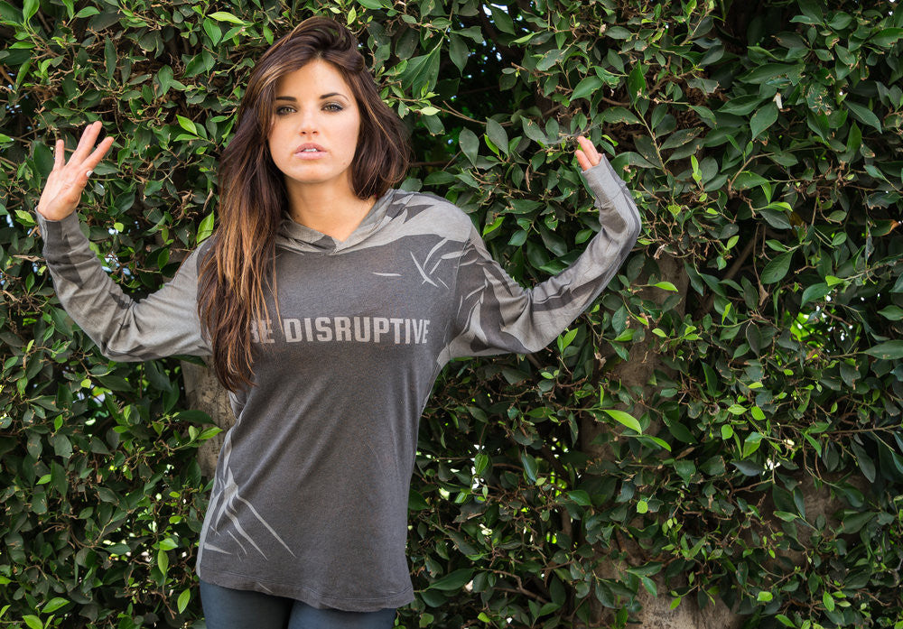 """BE DISRUPTIVE"" Urban-Camo Long Sleeve Hoodie"