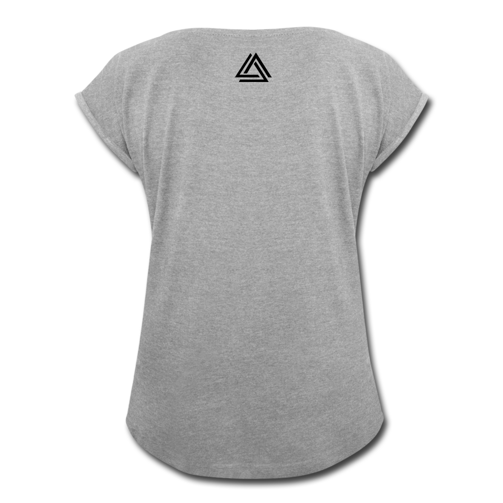 """Be Disruptive"" Women's Roll Cuff T-Shirt - heather gray"