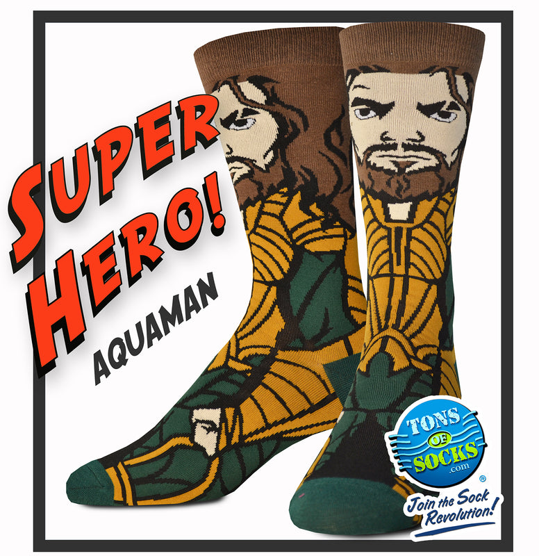 Men's AQUAMAN 360º Socks (NEW)