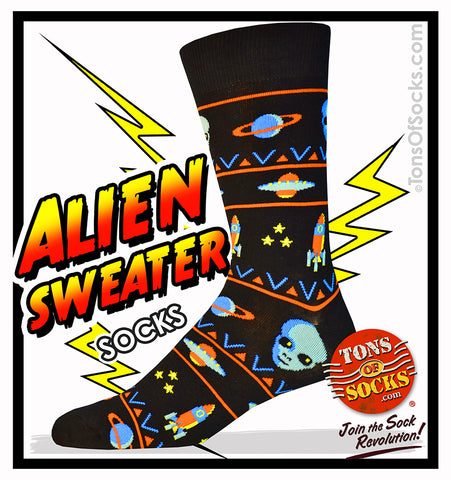 Men's Alien Sweater Socks