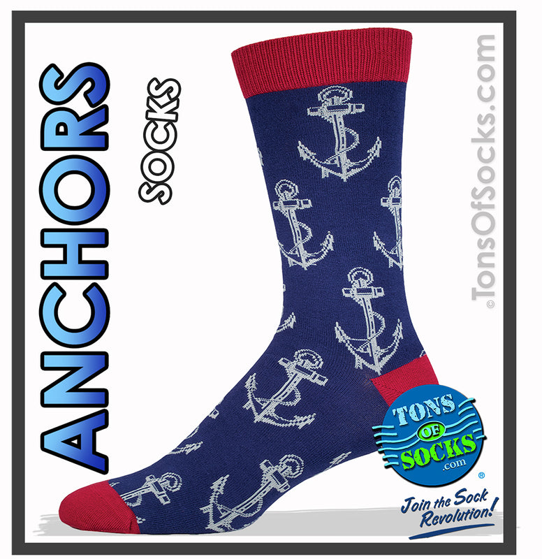 Men's Bamboo Anchor Socks