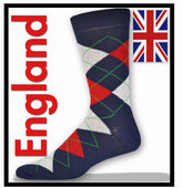 Men's Argyle Socks (Navy, Red, Lt. Grey)