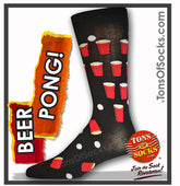 Men's Beer Pong Socks (Black)