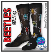 Men's Beetles Socks (Black) (Final Sale)