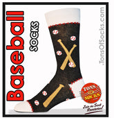 Men's Baseball Socks (Black)