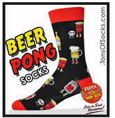Men's Beer Pong Party Socks