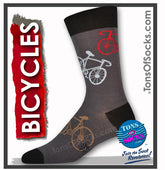 Men's Bicycle Socks (Gray)