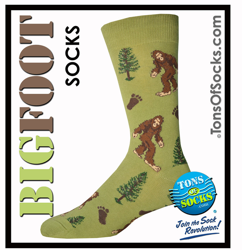 Men's BigFoot Socks (Moss) In 2 Sizes (NEW)
