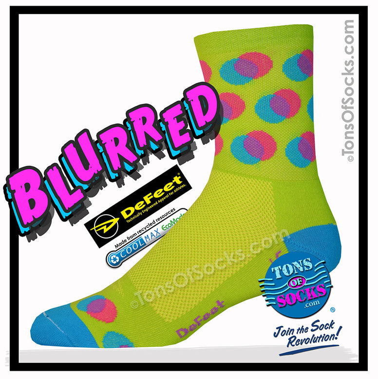 DeFeet Blurred Performance Socks (Lime)