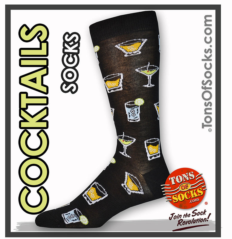 Men's Cocktails Socks (Black)