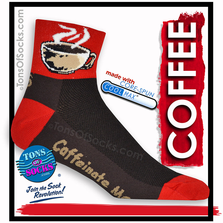 CoolMax® Caffeinate Me Coffee Performance Socks