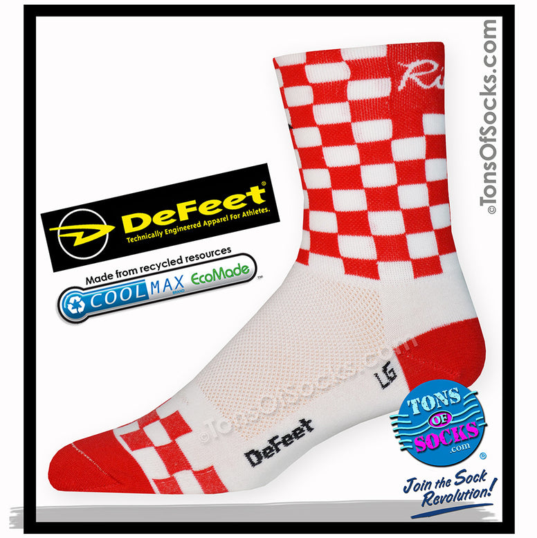 DeFeet Checkmate Performance Socks (Red & White) (FINAL SALE)
