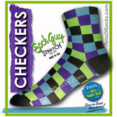 SockGuy Checkers Performance Socks (Multi Color)
