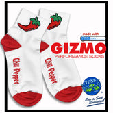 Gizmo CoolMax® Chili Pepper Performance Socks (red & white)