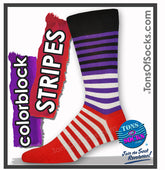 Men's Colorblock Striped Socks
