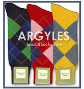 Men's Vannucci Colorful Cotton Argyle Socks
