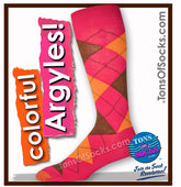 Men's GOLDTOE Colorful Argyle Socks (Dark Pink) (FINAL SALE)
