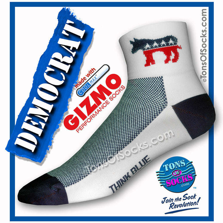 Gizmo CoolMax® Democrat Donkey Performance Socks