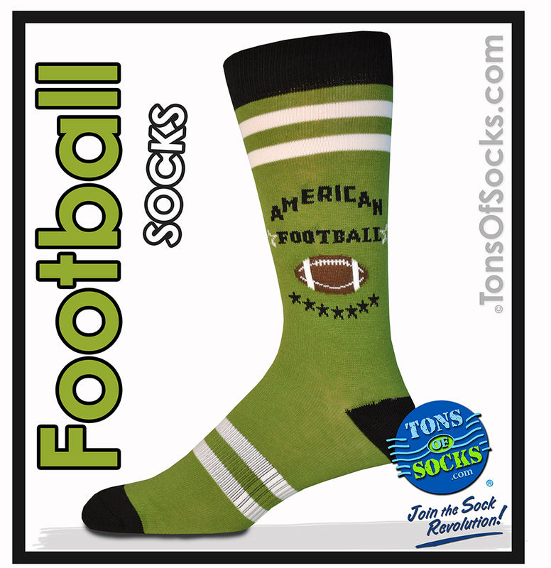 Men's American Football Crew Socks (Made in America) (FINAL SALE)
