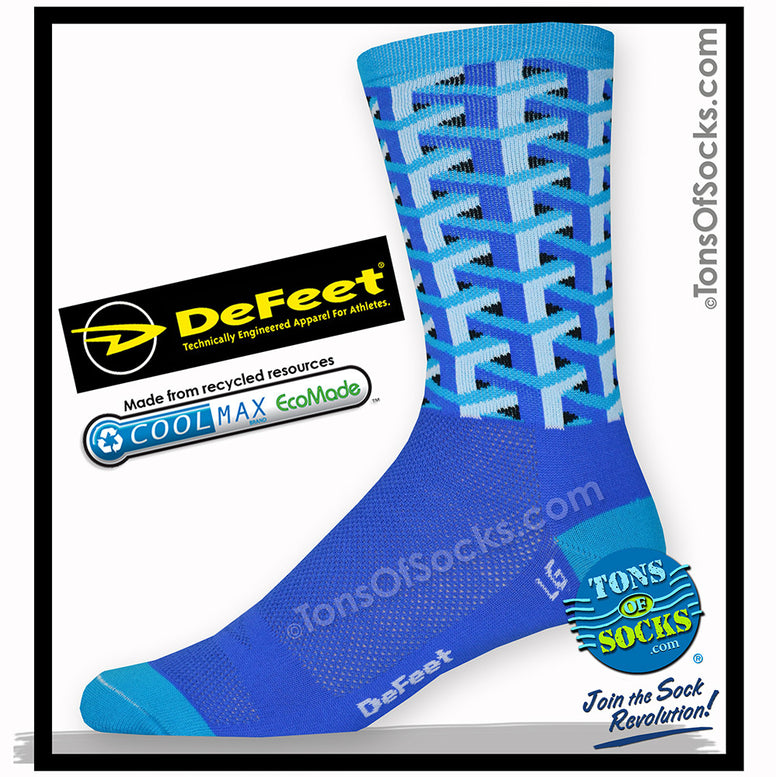 DeFeet Frame Work Performance Crew Socks (Blue)