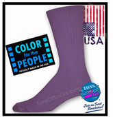 Men's Colorful Cotton Crew Socks (Gothic Grape)