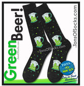 Men's Green Beer Socks