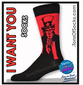 Men's I Want You / Uncle Sam Socks (Red)