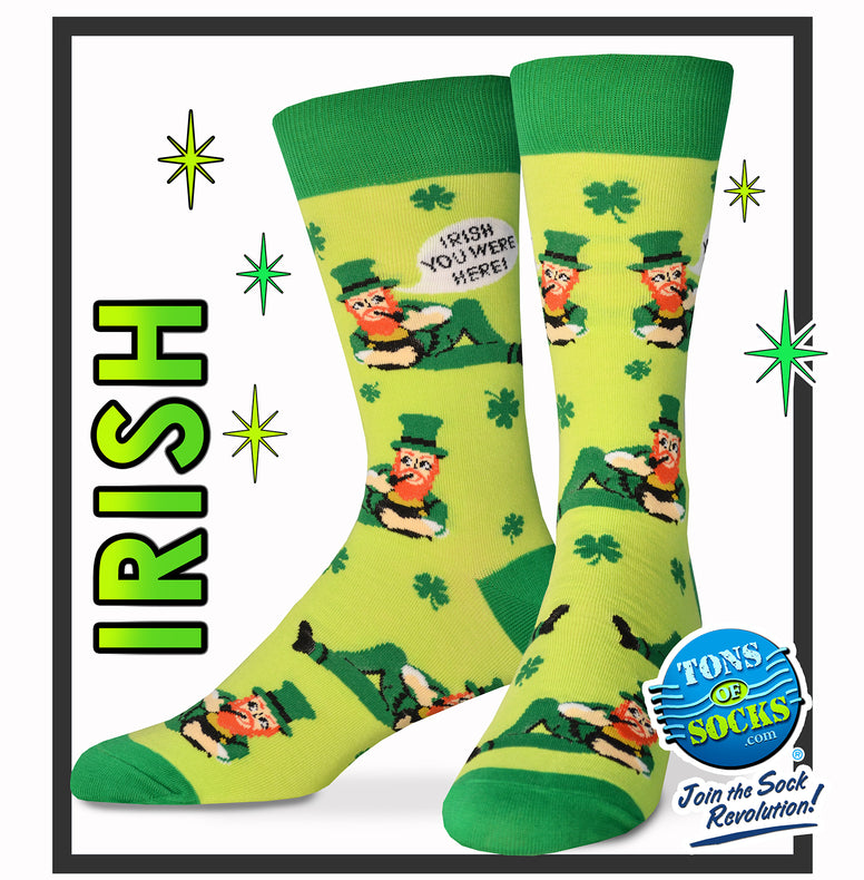 Men's Irish You Were Here! Socks (NEW)