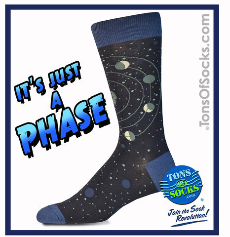 Men's It's Just a Phase Socks (Navy)