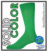 Men's Vannucci Solid Color Dress Socks (Kelly Green)
