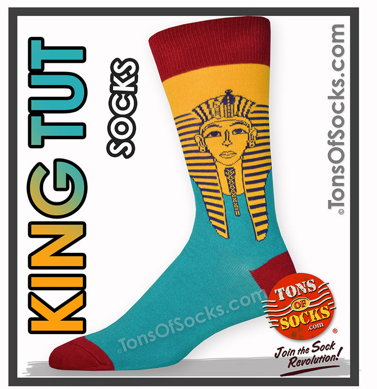 Men's King Tut Socks (Gold & Turquoise)