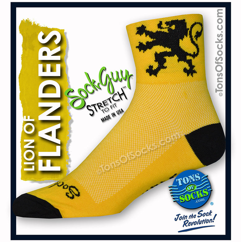 SockGuy Lion of Flanders Performance Socks