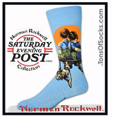 Men's Norman Rockwell Socks (Little Spooners)
