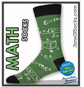 Men's Math Socks (Green)