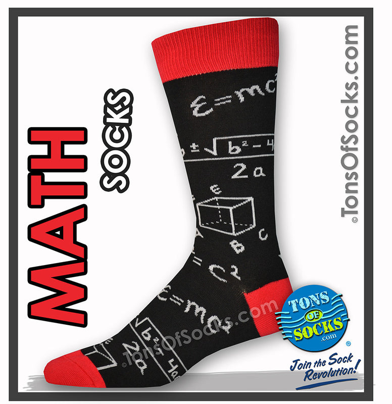 Men's Math Socks (Black)