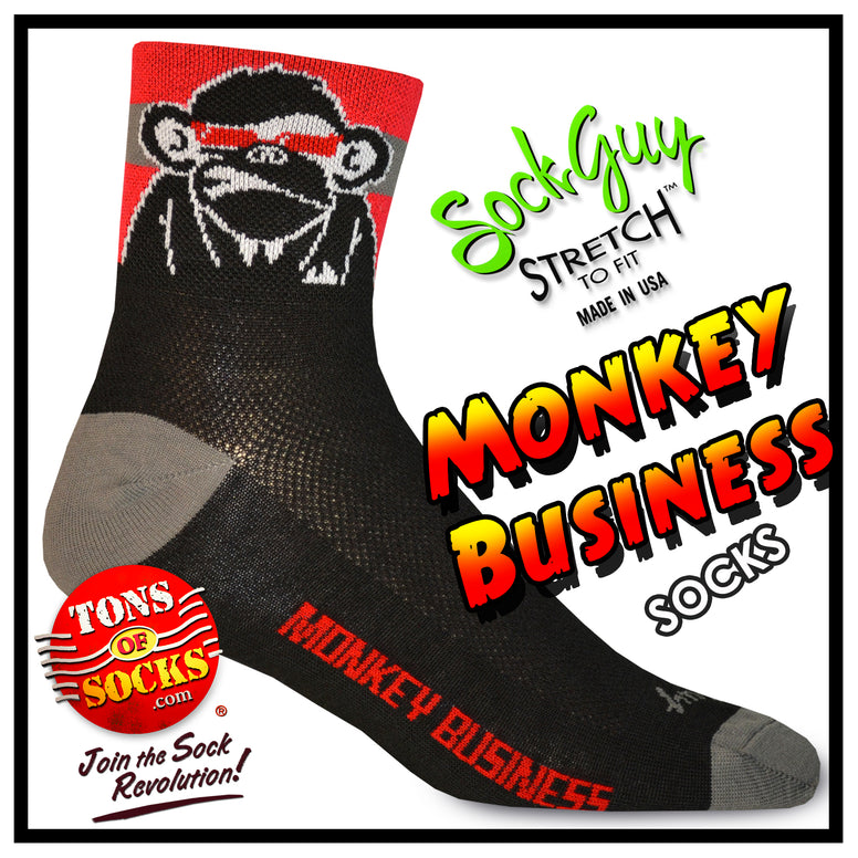 SockGuy Monkey Business Performance Socks