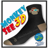 SockGuy Monkey See 3D Performance Socks