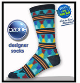 Men's Ozone Moore Stripes Socks (Navy)