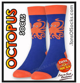 Men's Octopus Socks (Blue & Orange)