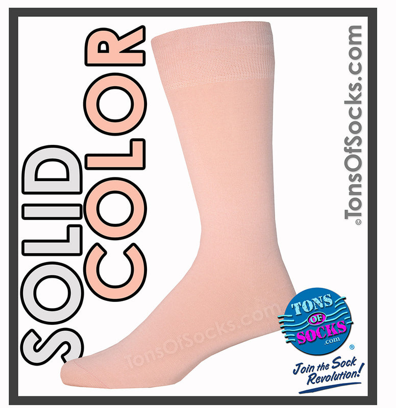 Men's Vannucci Solid Color Dress Socks (Pink)