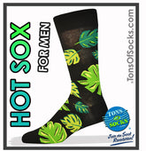 Men's Palm Leaf Socks (Black)